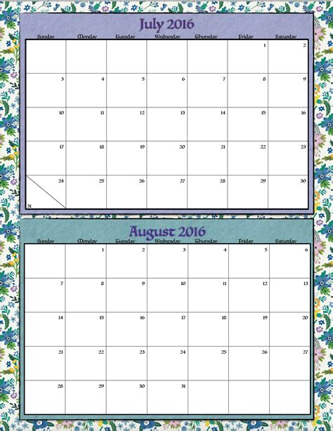 home design editorial calendar 2016 free printable bimonthly 2016 calendars 2 designs the
