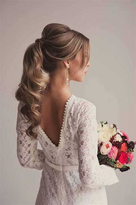 bridal hairstyles ponytail wedding hairstyles for long hair long hairstyles 2015