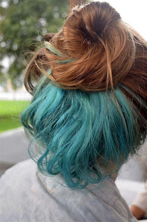 what is an underlayer hair cut bun pretty hair dyed hair blue hair messy bun blue dye i