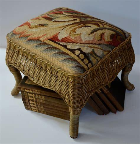 needlepoint ottoman ottoman foot stool needlepoint ottoman wicker ottoman