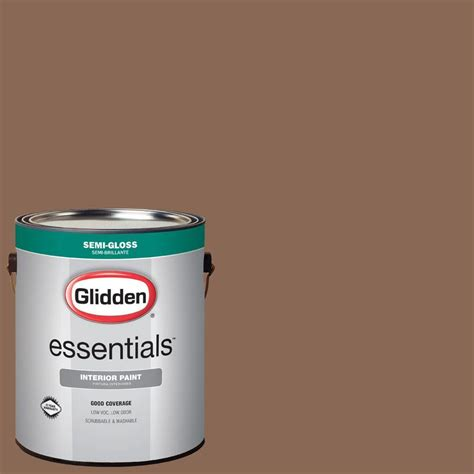glidden essentials 1 gal hdgo39d toast brown semi gloss interior paint hdgo39de 01sn the