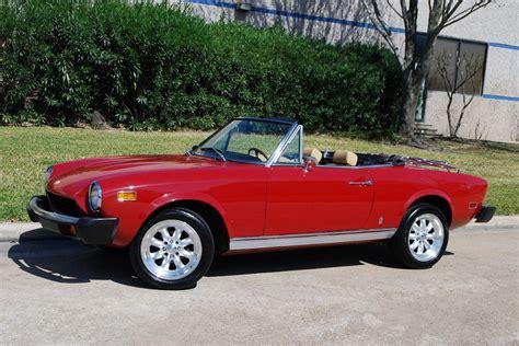 fiat 124 spider 1978 1978 fiat 124 spyder convertible