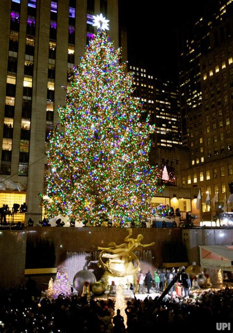 The Rockefeller Center Christmas Tree Lighting Ceremony Lighting Of Tree Nyc 2014