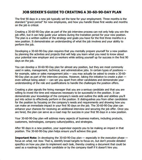 30 60 90 day action plan 7 documents in pdf word