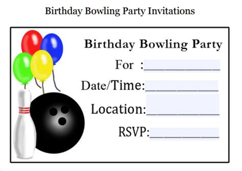 bowling invitation template sle bowling invitation template 9 free documents