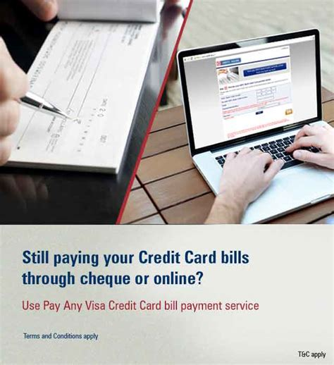 icici bank credit card payment icici bank pay any visa credit card bill payment offer