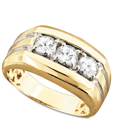 s 14k gold ring three 1 ct t w