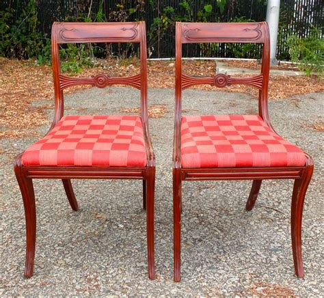 six regency mahogany dining chairs at 1stdibs