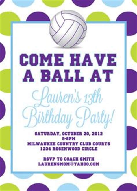 printable volleyball invitations 1000 ideas about volleyball party on pinterest