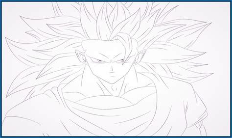 imagenes de goku fase 4 para dibujar imagenes de dragon ball z para colorear de goku en fase 3