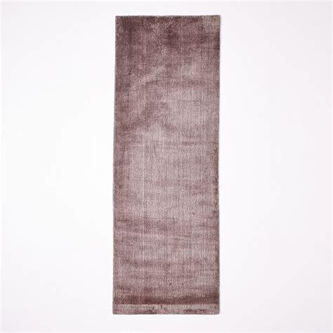 shine rugs loomed shine rug dusty blush west elm