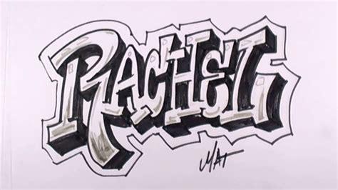graffiti writing rachel  design    names