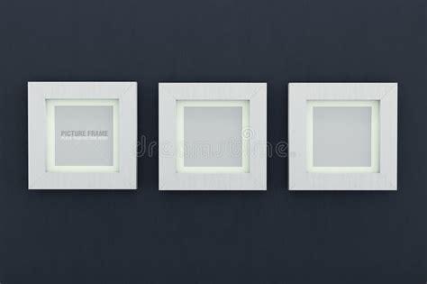 cornici quadrate cornici di legno bianche quadrate illustrazione di stock