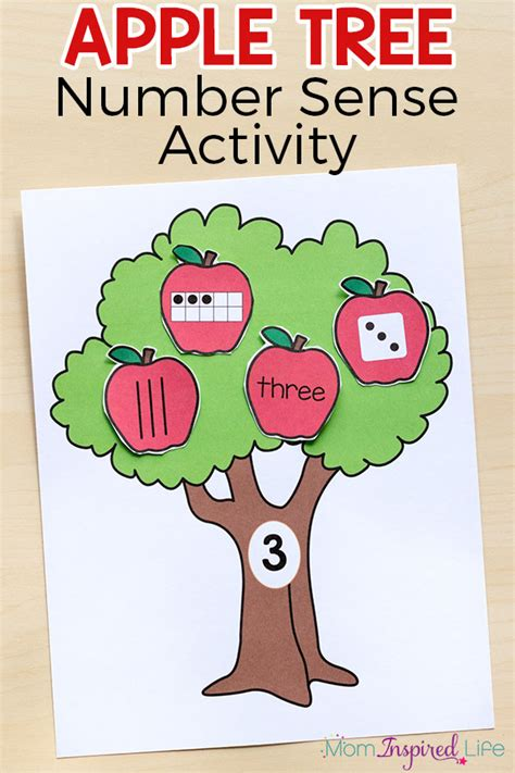 Where Is The Pin Number On An Apple Gift Card - apple tree number sense matching activity