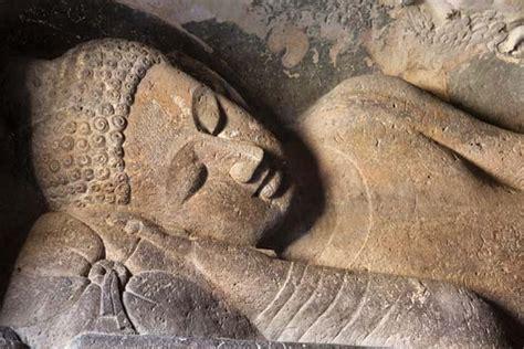 Recline Thesaurus by Ajanta Caves Reclining Buddha Statue Encyclopedia Children S Homework Help