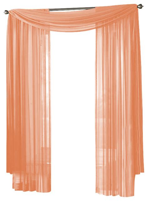 peach drapes hlc me sheer curtain window peach panel traditional