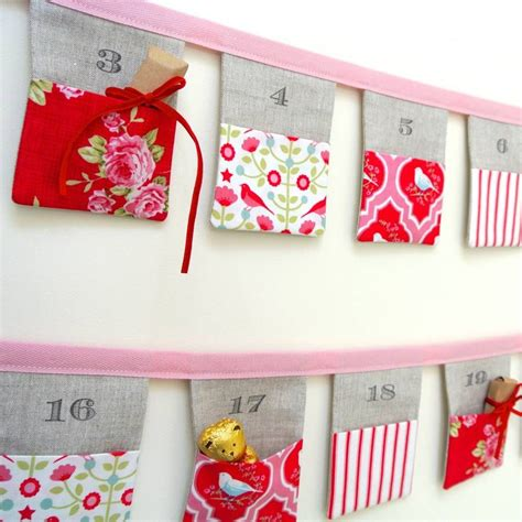 Handmade Advent Calendars - handmade bunting advent calendar tilda birds by sew