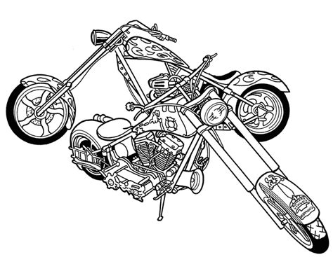 chopper motorcycle coloring pages black and white clip art free motorcycle black and white