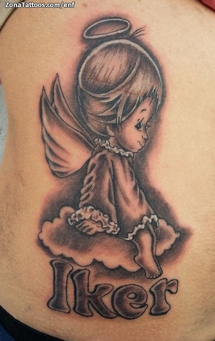 imagenes de tatuajes de un angel tatuaje de angelitos iker nombres