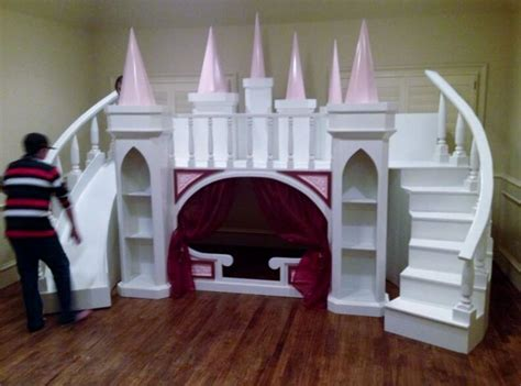 Castle Loft Bed by New Custom Princess S Castle Loft Bunk Bed Indoor