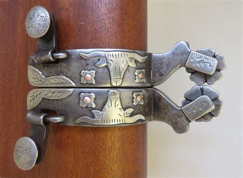 Handmade Spurs For Sale - 9318 handmade david farkas mounted spurs