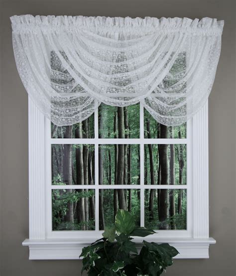 White Waterfall Valance lace waterfall valance white united lace valances