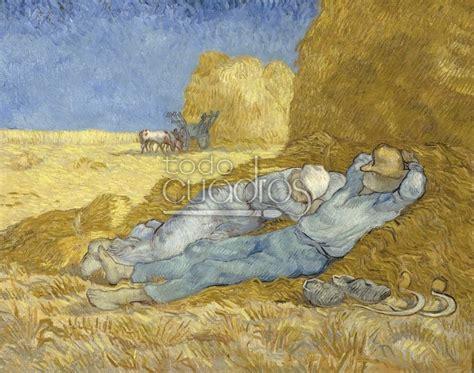 la siesta de cuadro quot la siesta quot de gogh reproducci 243 n a mano