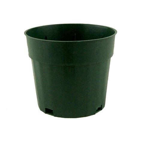 Plastic Flower Planters by 4 Quot Fluted Green Plastic Pot