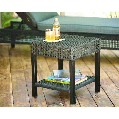 hton bay woodbury patio accent table d9127 ts the outdoor side tables patio tables patio furniture the