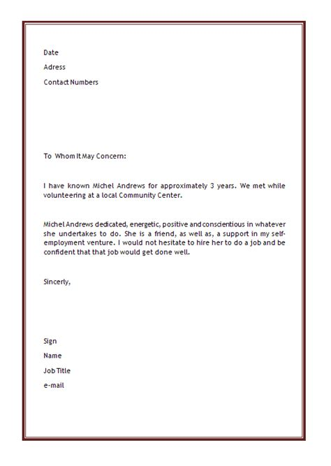 Memo Template Word 2011 personal letter of recommendation template microsoft