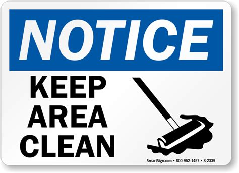 s clean keep area clean with sweep graphic signs notice signs sku s 2339
