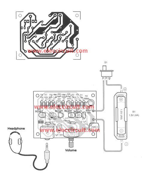 digital hearing aid circuit diagram the cheap small hearing aids circuit project eleccircuit