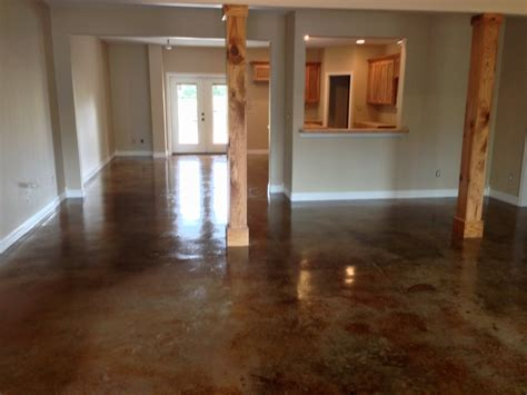 Interior Concrete Floor Stain by Interior Stained Concrete Bedroom