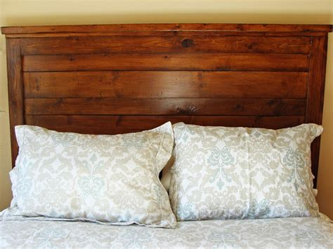 homemade wooden headboards how to build a rustic wood headboard how tos diy