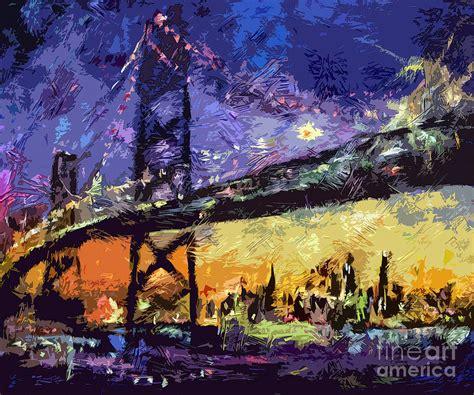 paint nite oakland abstract san francisco oakland bay bridge at