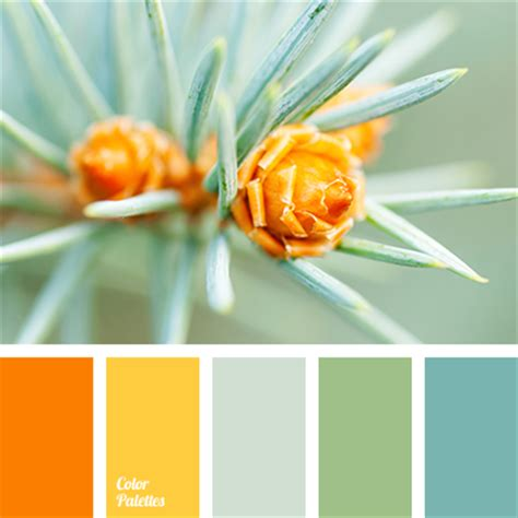 orange and blue green color palette ideas