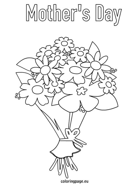 printable flowers mother s day mother s day flowers coloring page coloring page for kids