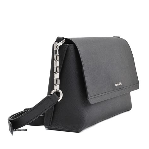 Ck Magnetic With Mini Bag lyst calvin klein crossover sofie saffiano flap bag in black