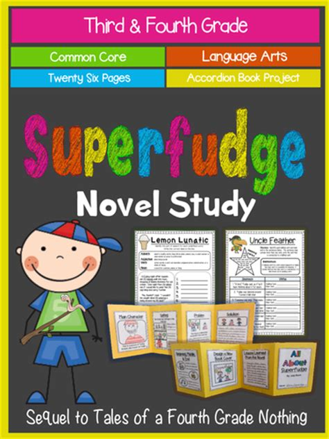 superfudge book report superfudge novel study accordion book project ccss