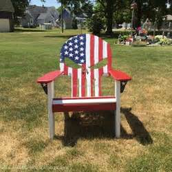 Recycled Adirondack Chairs Wood Pallet Punisher Skull Adirondack Chair Pallet