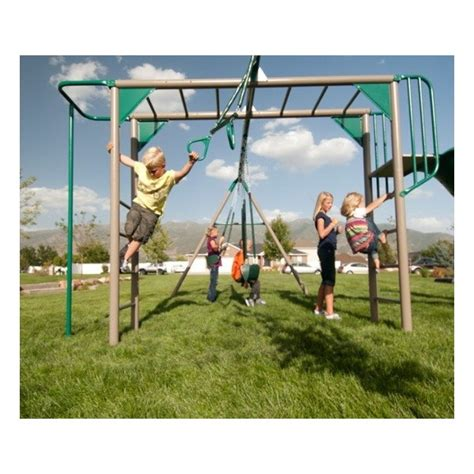 lifetime swing set with monkey bars lifetime monkey bar swing set earthtone 90143