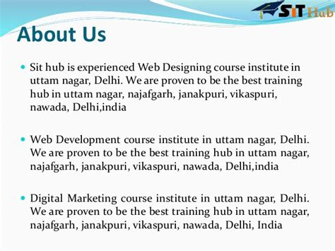 ppt digital marketing course in dwarka janakpuri sithub in web designing and development php training