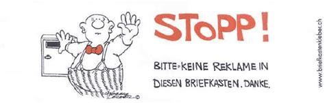 Ch Aufkleber Migros by Service F 252 R Den Quot Stopp Werbung Quot Aufkleber