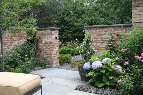 garden brick wall designs garden brick wall design ideas landscape traditional with