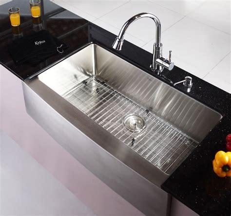 Kraus Kitchen Sinks Kraus Khf20036 36 Inch Farmhouse Apron Single Bowl Kitchen Sink With 16 Stainless Steel