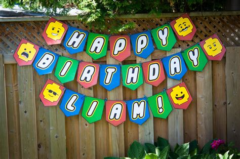 Lego Birthday Banner Lego Banner Download Print By Instabirthday Lego Happy Birthday Banner Template