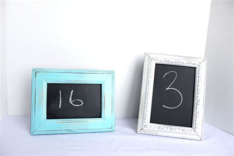 diy chalkboard table numbers 20 diy wedding table number ideas to obsess
