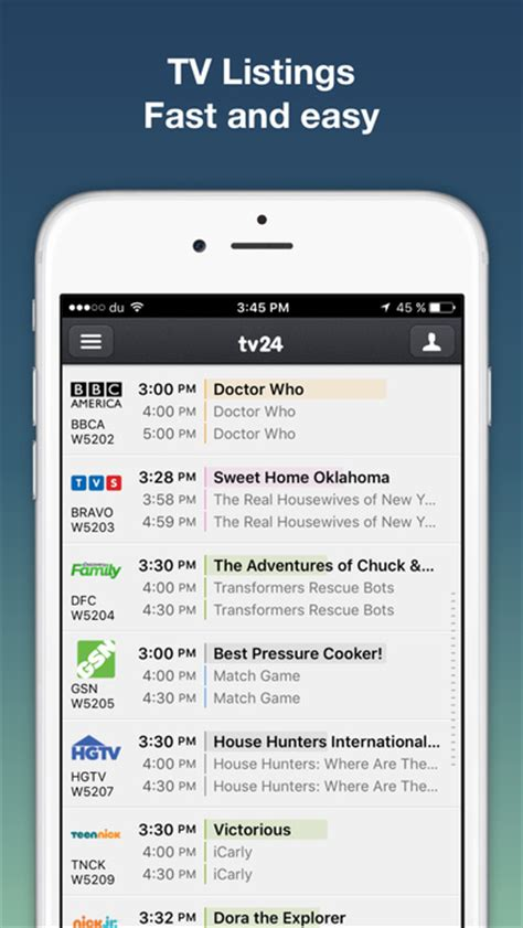 tv listings for android tv listings by tv24 us tv guide app android apk