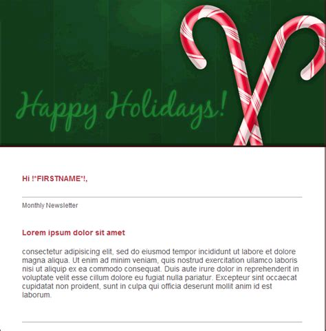 Happy Holidays Email Templates by Free Email Template Happy Holidays Free Email And