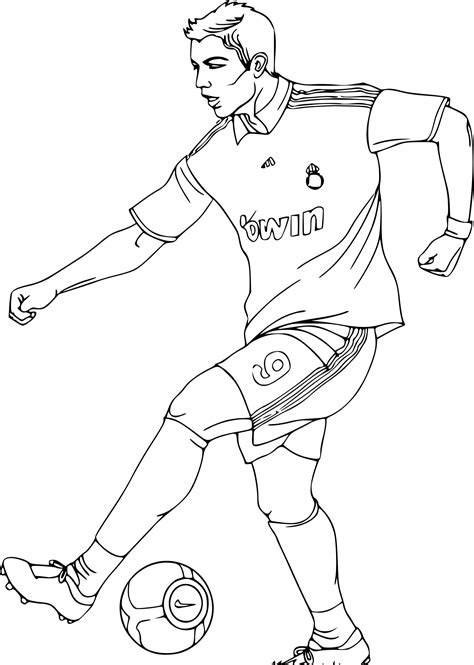 dessin de foot de ronaldo coloriage joueur de foot equipe de france download